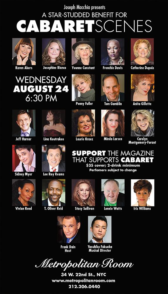 August 24: Cabaret Scenes Benefit