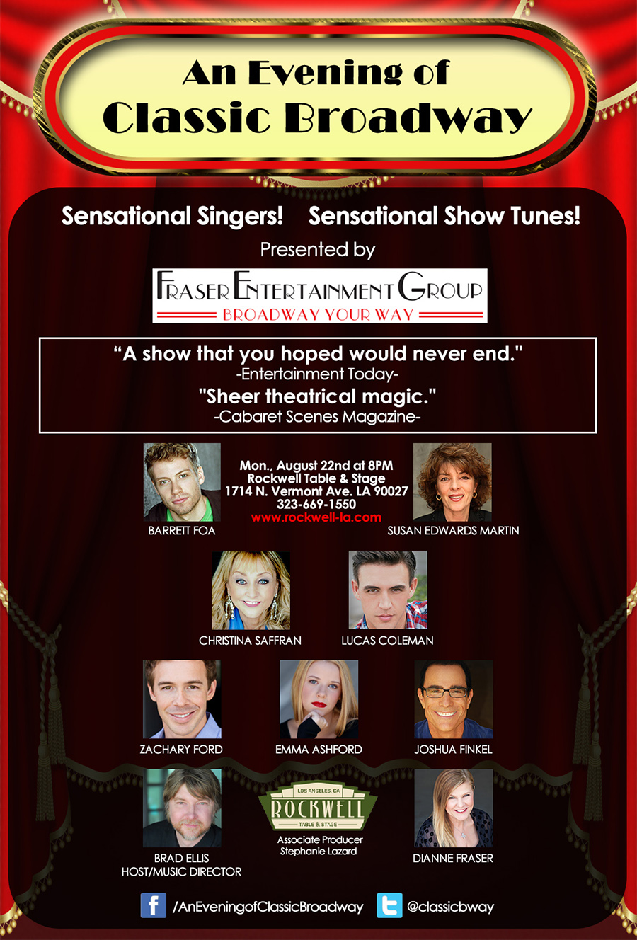 August 22: An Evening of Classic Broadway